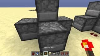 Minecraft мехонизмы №1 мини пушка