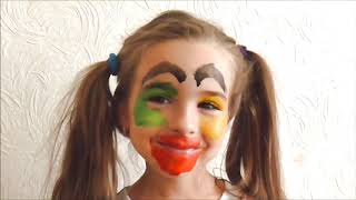 Fun Face Paint for kids   Funny video for Children