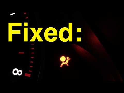 How to fix airbag warning light and B1861 error code on Lexus, Toyota, and Scion cars.