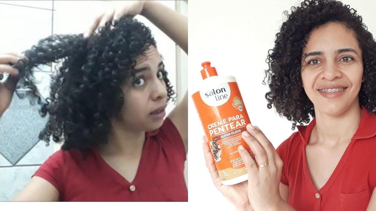Usei o creme  Salon Line Super óleos e olha só o resultado #cabeloscacheados