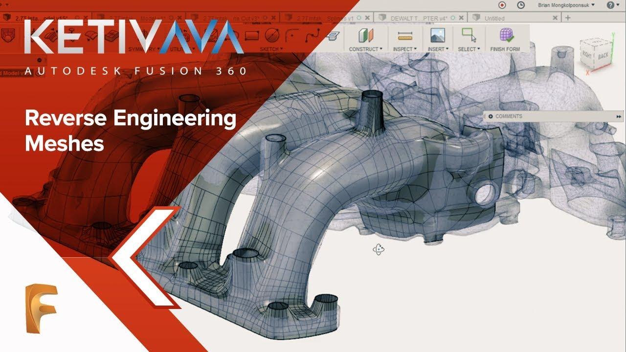 Reverse Engineering Meshes | AVA: Fusion 360 | Fusion 360 | Autodesk