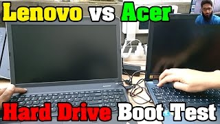 Lenovo vs Acer - 7200 vs 5400 RPM Hard Drive Speed Boot Test