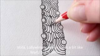 How to draw tanglepattern Lollywimple