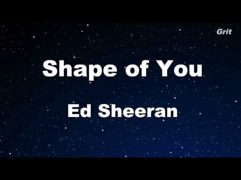 Shape of You - Ed Sheeran Karaoke 【No Guide Melody】 Instrumental