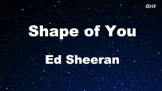 Shape Of You Ed Sheeran Karaoke No Guide Melody Instrumental