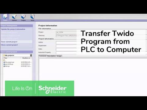 Transferring Twido Project