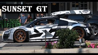TURBO R8 GT3 LMS SUNSET GT SUPERCAR SHOW SHENANIGANS LOUD CARS DONUTS