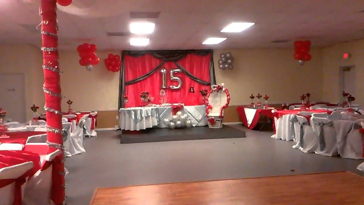 Party hall 15s decoration youtube for 1st birthday hall decoration ideas