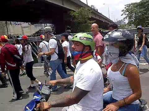 Marcha 19 de abril 2017 concentración Bello Monte a Autopista Caracas