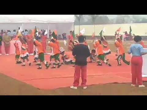 Mudra's flag formation Leeway school sports day 2018