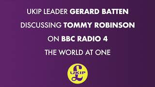 UKIP Leader Gerard Batten on The World At One