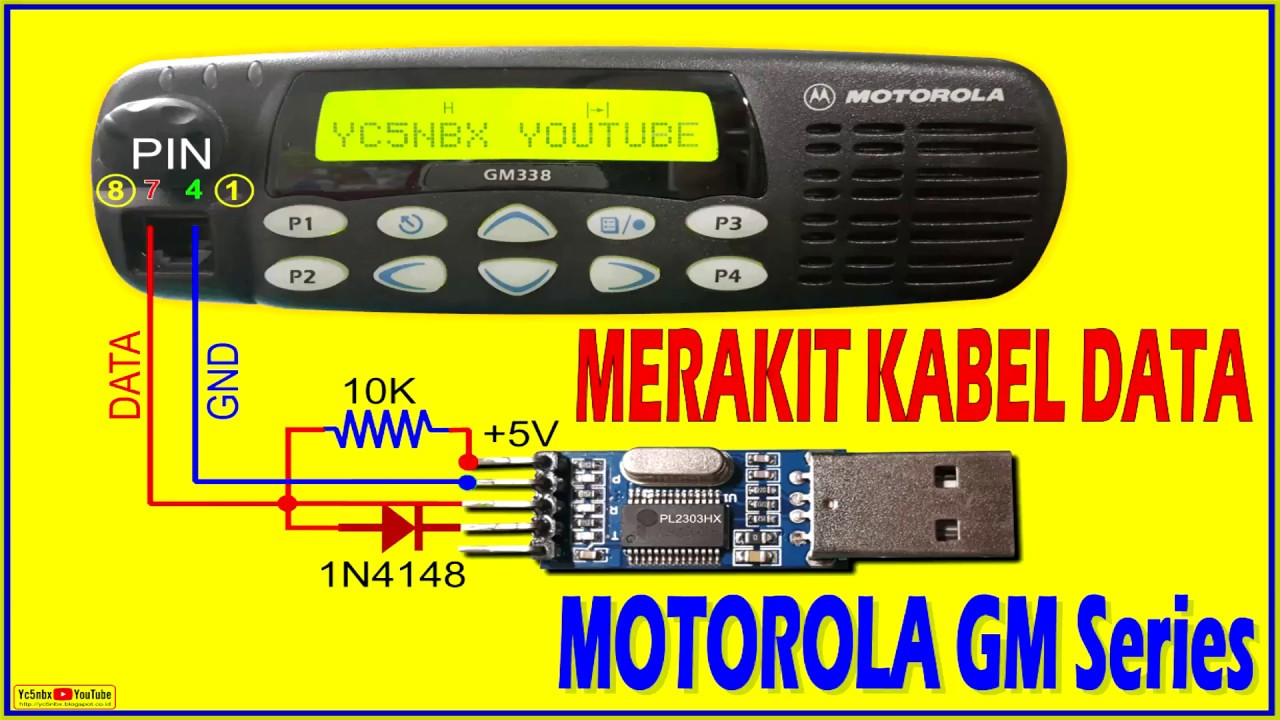 Merakit Kabel Data Motorola Gm338 - Cdm1550