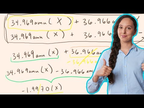 How To Calculate Isotope Abundance Using Atomic Mass!