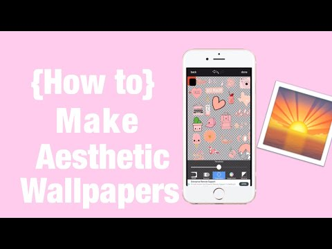 How To Make Aesthetic Wallpapers|| Android or iPhone|| Tutorial|