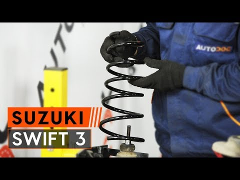 How to replace springs on SUZUKI SWIFT 3 [TUTORIAL AUTODOC]