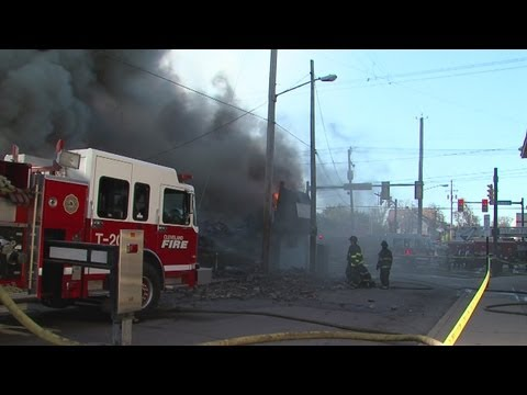 RAW: Church fire on Kinsman Road in Cleveland