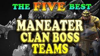 The Five Best Maneater Clan Boss Teams | Raid Shadow Legends