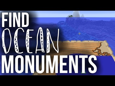 How To Find Ocean Monuments - Minecraft 1.11