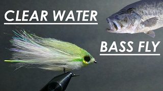 Tying The BEST Fly for BIG Bass in Clear Water - (Step-by-Step + Underwater Footage)