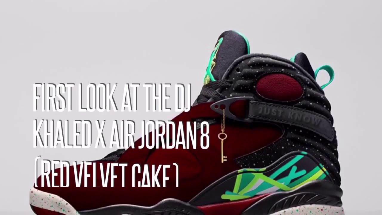 214390d8441bb4 FIRST LOOK AT THE DJ KHALED x AIR JORDAN 8 (RED VELVET CAKE)  SNEAKERS STAR