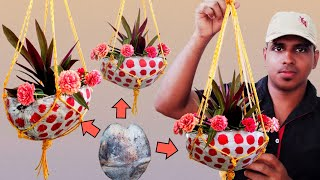 How to Make Beautiful Hanging Pot out of Coconut