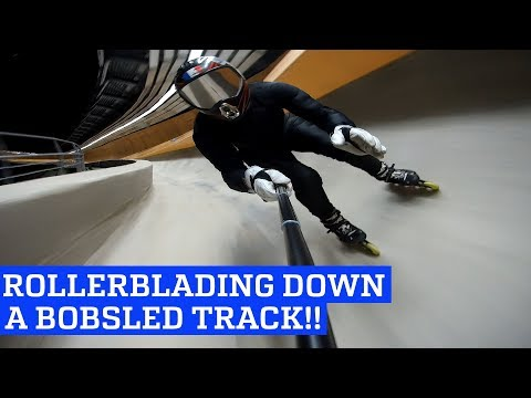 Rollerblading Down a Bobsled Track!