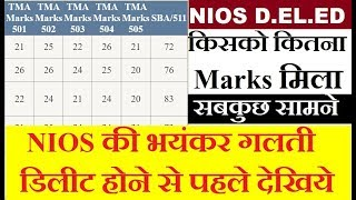 NIOS D.EL.ED MARKS Uploaded on website, Assignment and SBA Marks, PCP, Attendance | Online Partner thumbnail