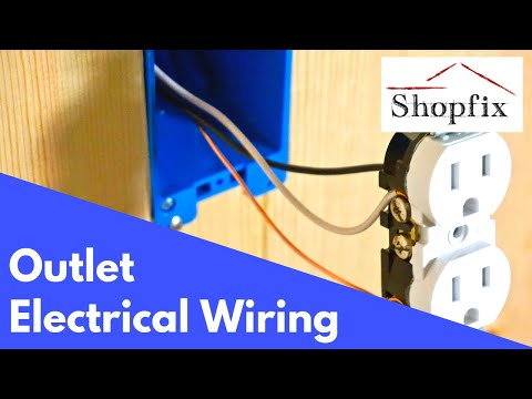 How to Install an Outlet From a Junction Box - Electrical Wiring - YouTubeYouTube