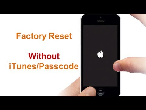 how to factory reset iphone without itunes factory reset iphone 7 without passcode itunes 20041