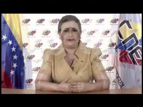 Cadena del CNE este 11 de junio informando del final de las auditorías