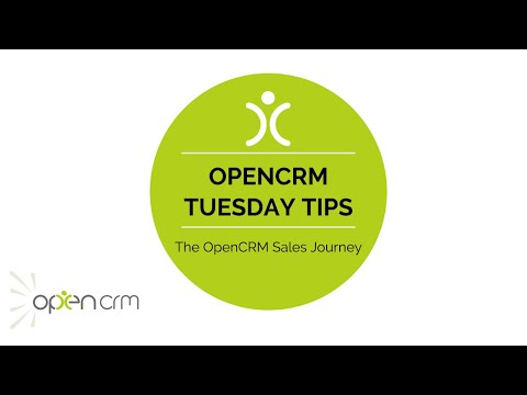 #TuesdayTip - The OpenCRM Sales Journey