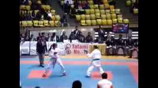 WKF - Female kumite Supriya Jatav (India)  KAI National Senior Karate Championship 2014 2nd Bout