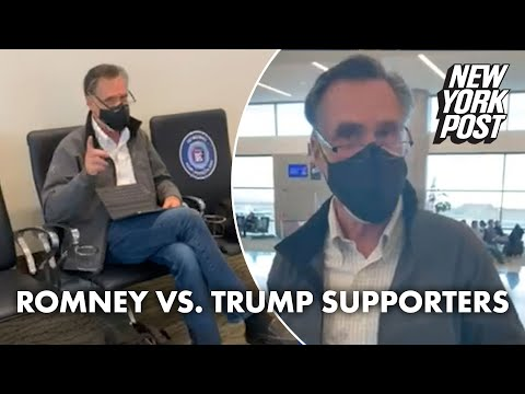 Sen. Mitt Romney mocked by Trump supporters at airport | New York Post