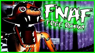 Five Nights at Freddy's Free Roam in 3D - OVERNIGHT - 3D Foxy Jumpscare