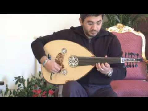 الدرس الثالث من دروس تعليم الة العود للعازف المتميز غسان اليوسف