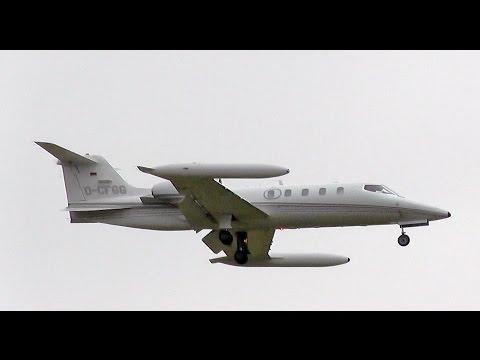 Quick Air Jet Charter Learjet 36A D-CFGG landing at Berlin Tegel airport