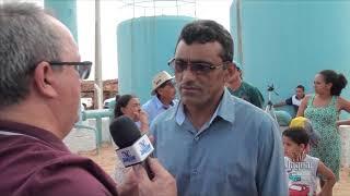 Vereador Dedé de Mecié ressalta a grandesa da obra da Adultora que assegura abastecimento d'água par