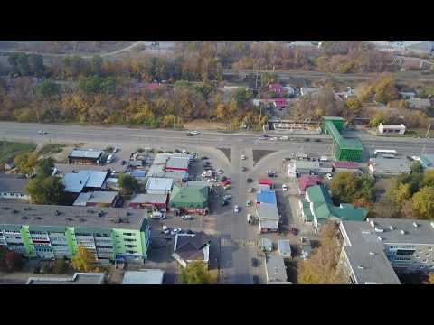 п. Строитель (1й-2й пятак), Тамбовский р-н. С высоты 70м. Аэросъемка 4K. Октябрь 2018.