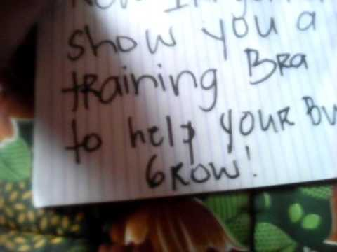 Training bras for girls age is 9-13 yrs old. - YouTube