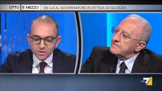Otto e mezzo - De Luca, governatore in attesa di giudizio (Puntata 27/10/2015)