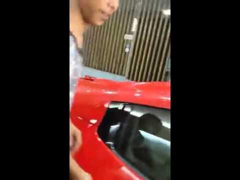 Anak aceh langsa test drive car sport ferrari 458 spider