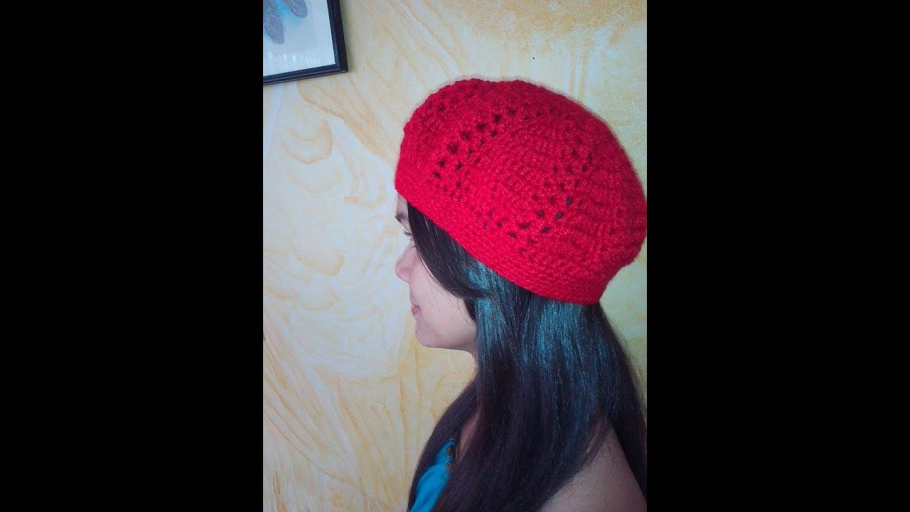 gorro boina tejida en crochet o ganchillo - YouTube