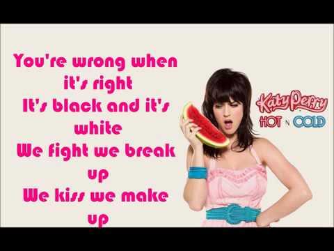 Letra Katy Perry  Hot N Cold  Lyrics