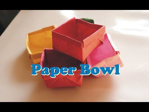 How to make Paper Bowl   Paper craft   Origami   Paper Art   DIY Paper Craft   Kids Craft