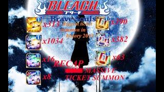 Bleach Brave Souls: Massive Ticket Summons!!! 1000+++ RECAP