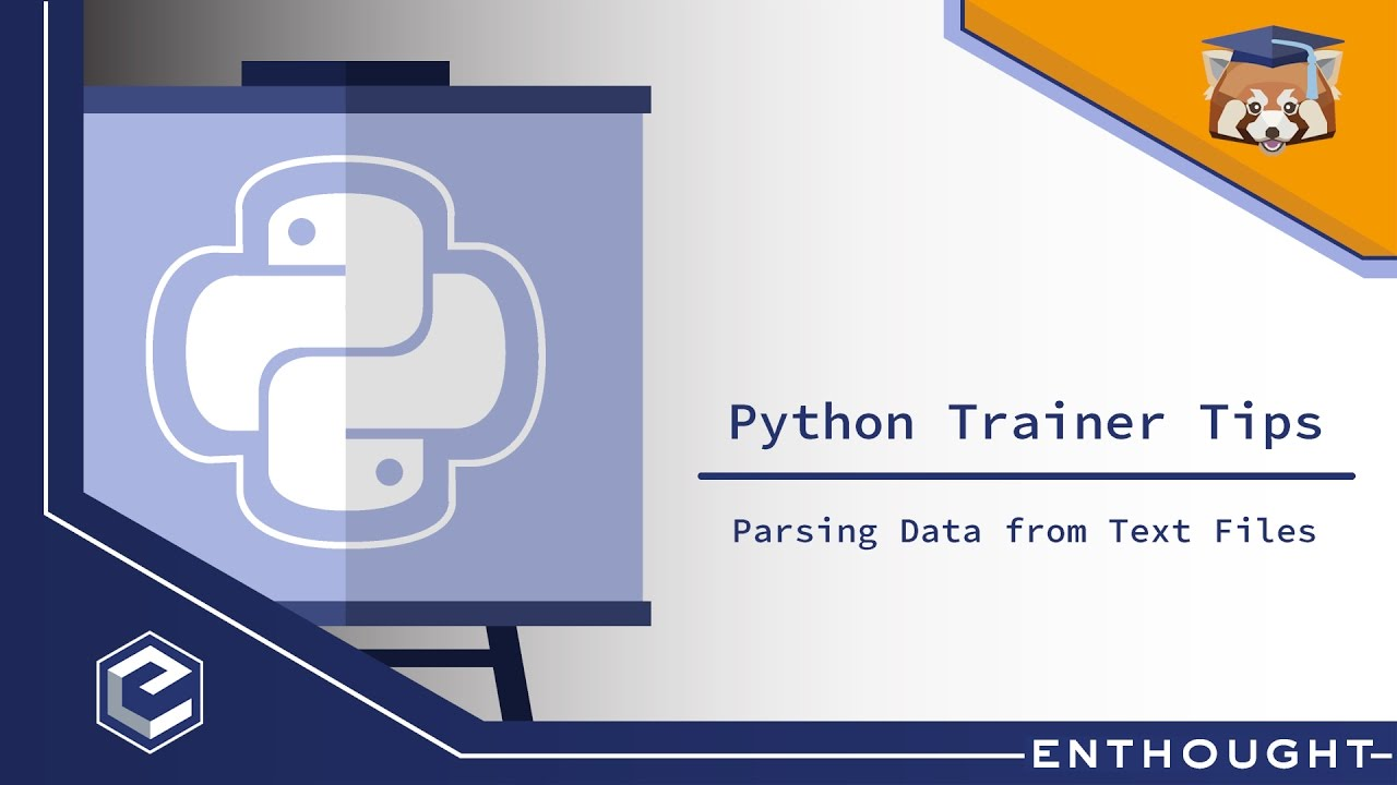 Python Trainer Tip: Parsing Data Into Tables from Text Files with Python's  Pandas Library