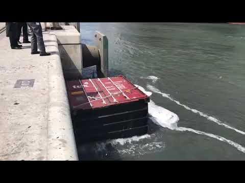 Cargo Ship Collision at Karachi Port South Asia Port Terminal