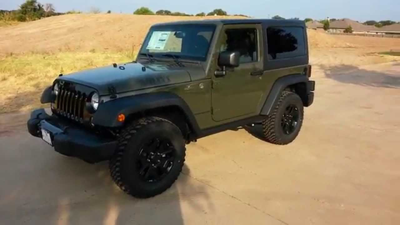 New Tank Army Green 2015 Jeep Wrangler Willys Edition Tdy Sales