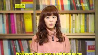 [ENG SUB] 111210 Do Dream - Sunye Speaks about her Father