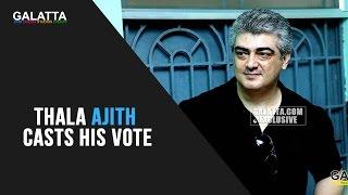 Thala Ajith Casts His Vote | TN Election 2016